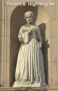 statue of Florence Nightingale - National Nurse Week
