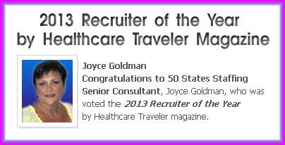 Joyce Goldman, recruiter of year 2013